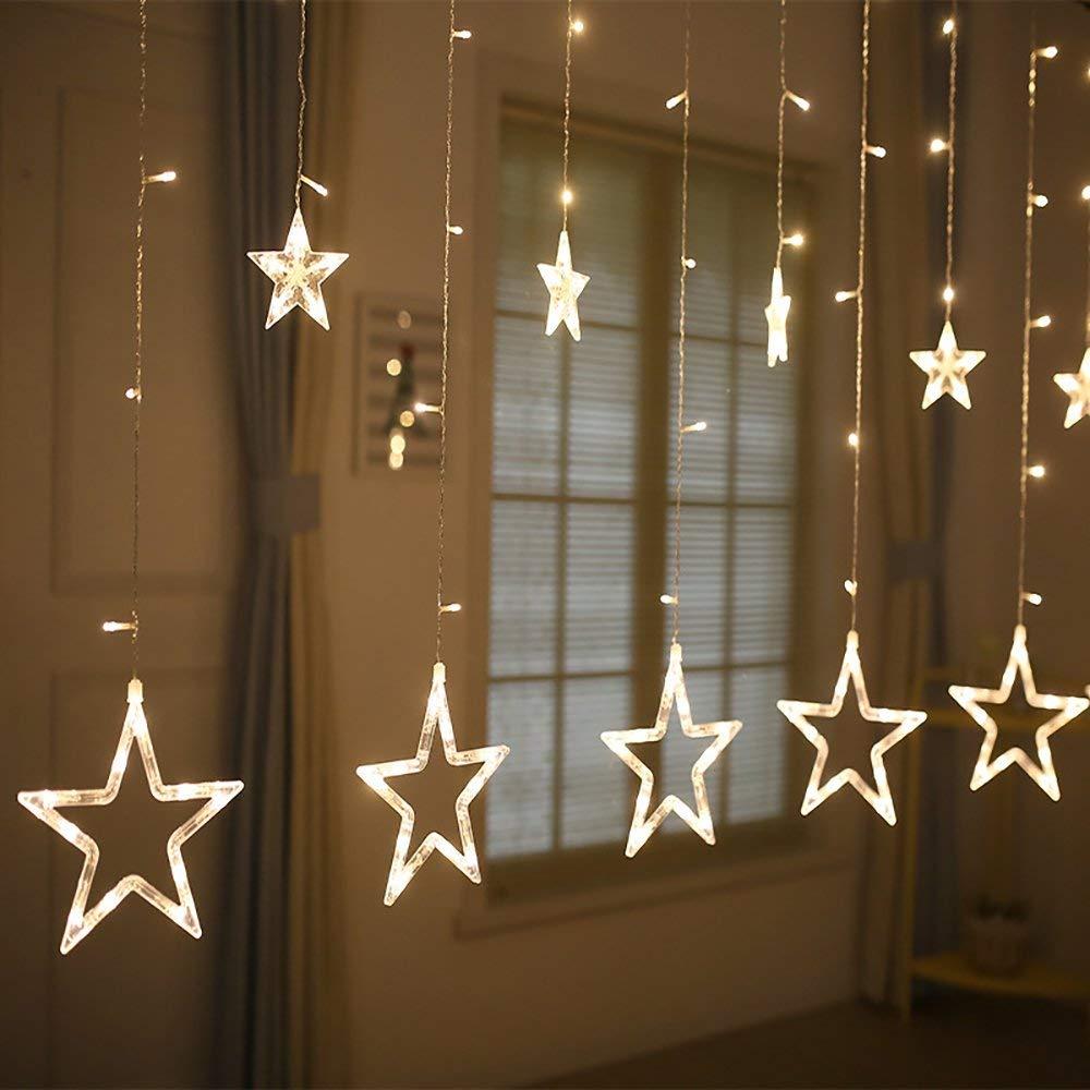 Dây đèn chớp ngôi sao 12 sợi 138 LED