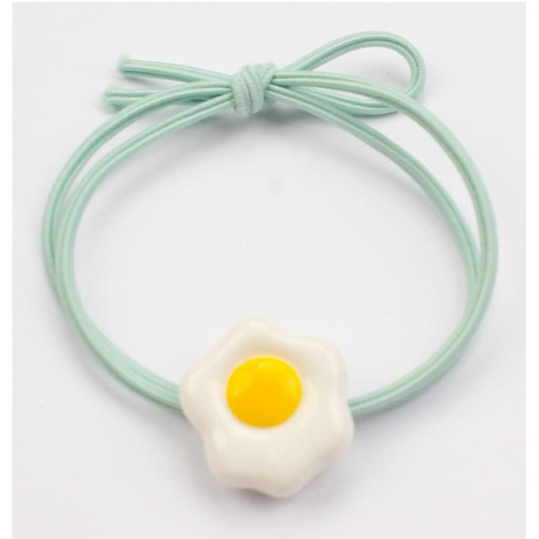 Thun(Chun) buộc tóc quả trứng nhiều màu, dây thun cột tóc nữ Hàn Quốc