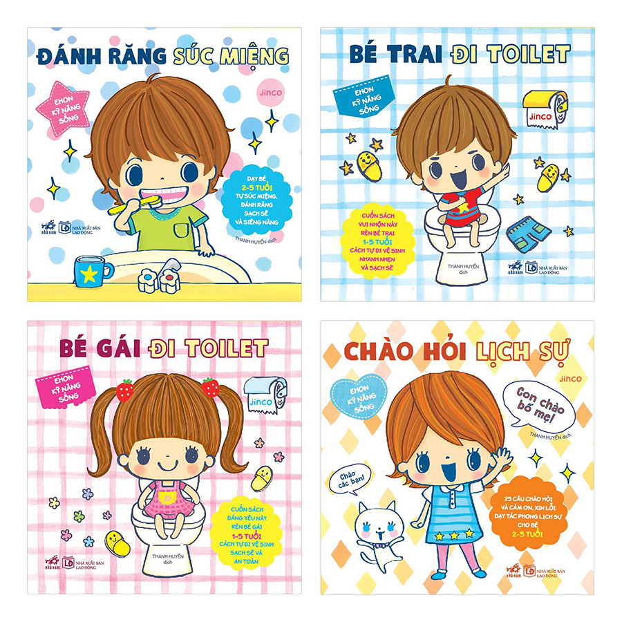 Combo 4 Quyển Ehon Nhật Bản - Ehon Kỹ Năng Sống