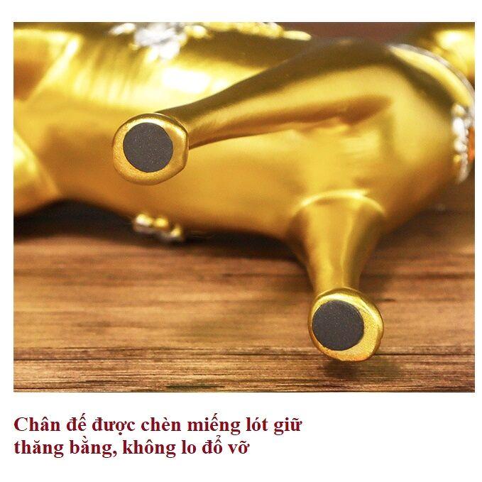 Tượng Decor Gia Đình Hươu Nai Vàng Trang Trí Phong Thủy Tài lộc - Bộ 3 Con