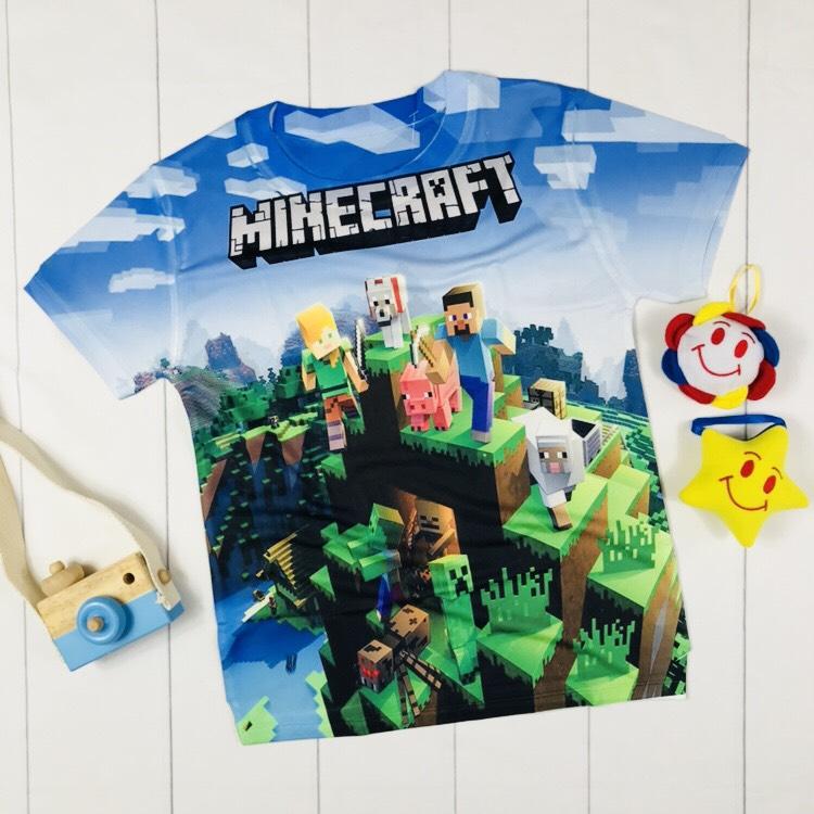 Áo thun 3D Minecraft cho bé trai
