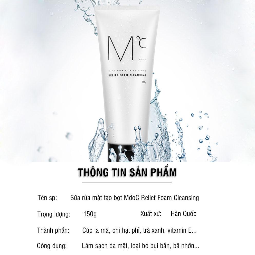 Sữa rửa mặt nam mini size MdoC Relief Foam Cleansing 50g loại bỏ bã nhờn bụi bẩn trên da TM-MRM05