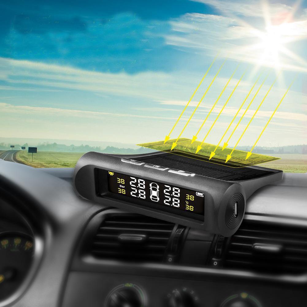 Cảm Biến Áp Suất lốp xe hơi TPMS - Gắn Ngoài - Không Dây - Năng Lượng Mặt Trời