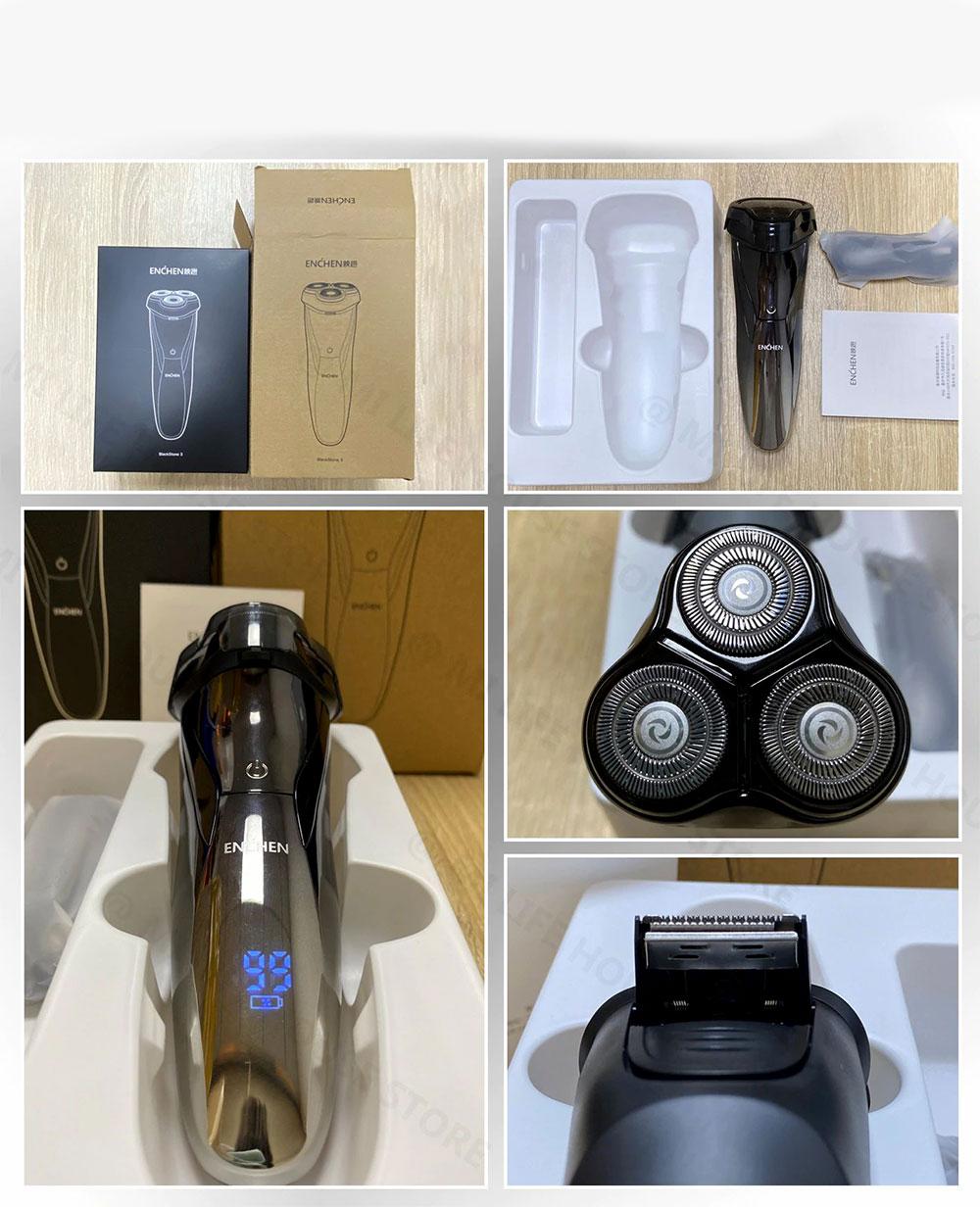 Máy Cạo Râu Xiaomi Enchen BlackStone 3 - Hàng Nhập Khẩu
