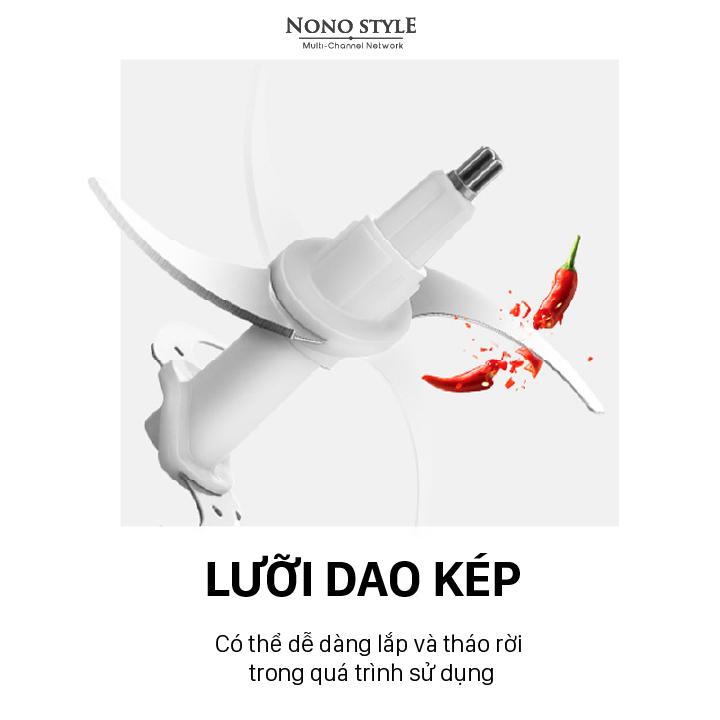 Máy Xay Thịt 2 Lưỡi Kép Nonostyle (2L) - Hàng Chính Hãng