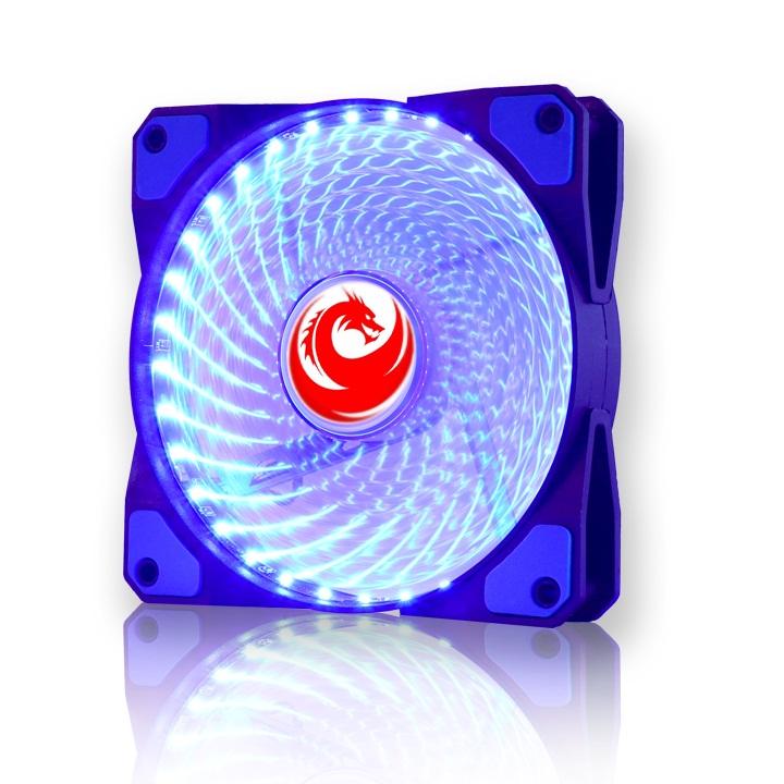 Tản Nhiệt Fan Case 12cm 33 Bóng  LED Red Dragon -Màu xanh