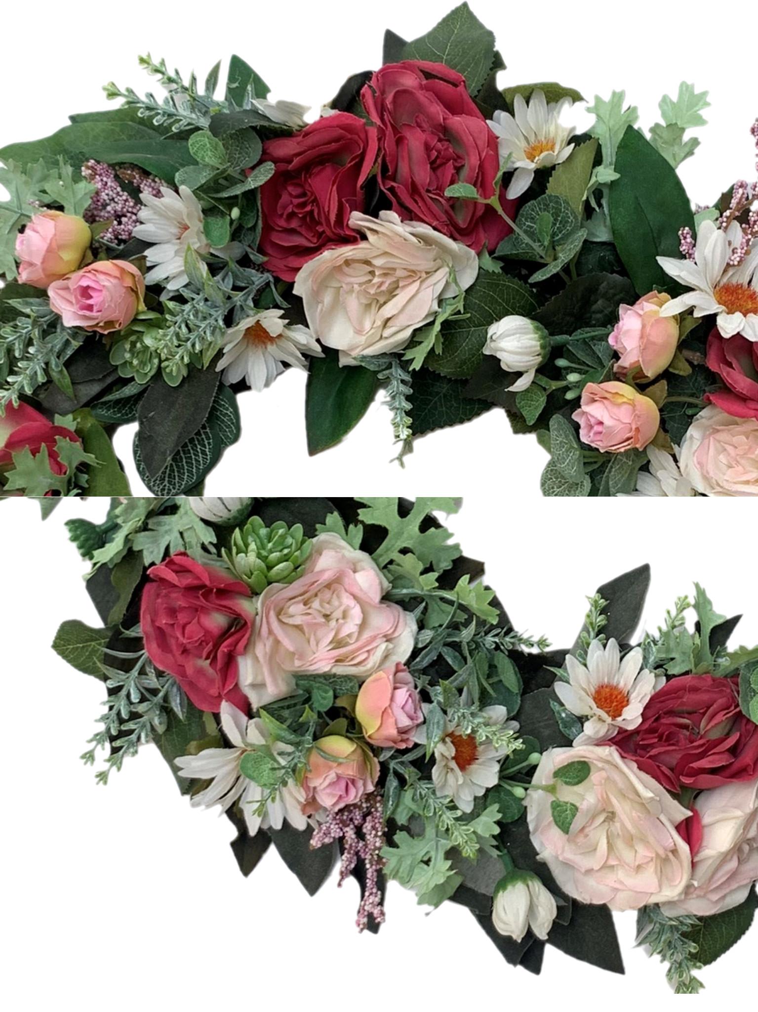 Vòng Hoa Vải Handmade V16094