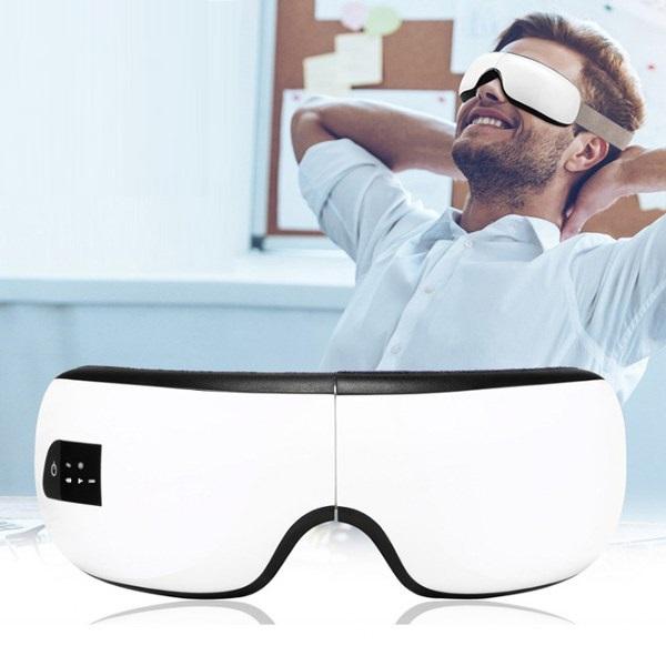 Kính massage mắt kiêm loa Bluetooth thư giãn chống mệt mỏi