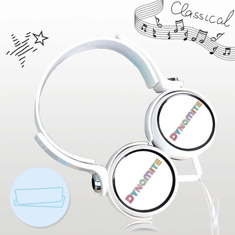 Tai nghe BTS DYNAMITE thiết kế thông minh cá tính cắm dây có mic idol kpop