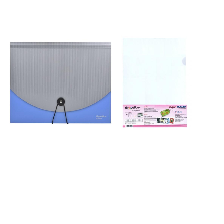 Cặp 12 Ngăn FO-EB01 (Tặng Kèm Xấp 10 Cái Bìa Lá A4 - FO-CH03) - Màu Ngẫu Nhiên