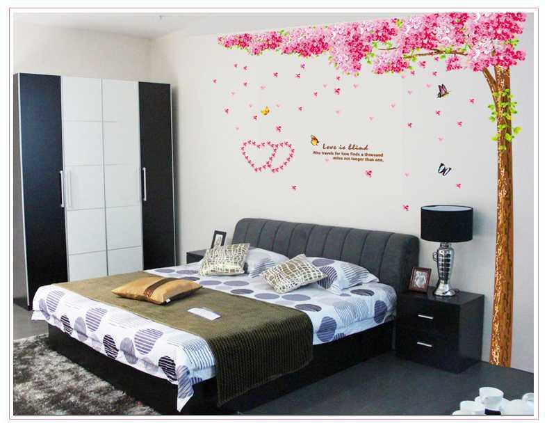 Decal dán tường Cây hoa anh đào AmyShop DCX01 (220 x 220cm)