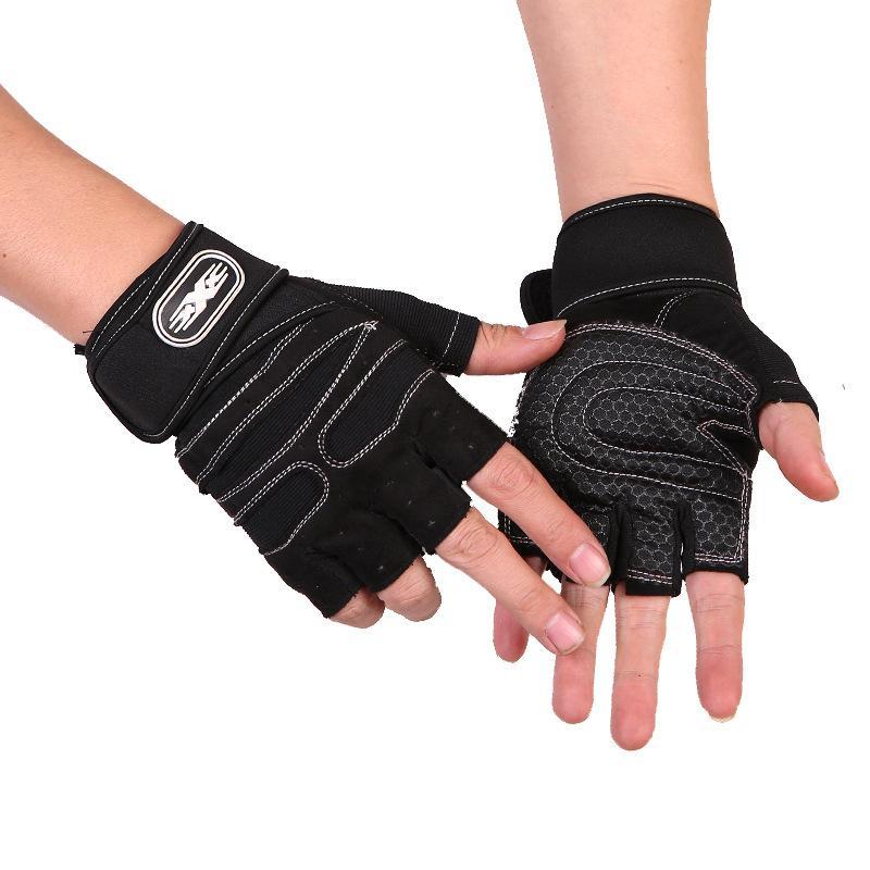 Găng tay tập gym có dây cuốn bảo vệ cổ tay kết hợp