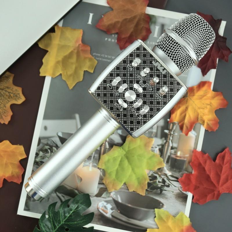 Micro Karaoke Bluetooth YS95  JVJ  kèm loa không dây tích hợp Live Stream giả giọng nói -Kèm bộ thu tín hiệu qua loa rời - Hàng chính hãng