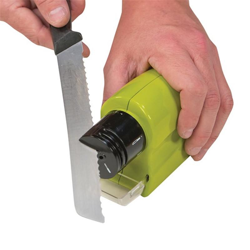 Máy mài dao,kéo chạy pin - Dụng cụ mài dao, kéo đa năng 5x20x18 cm+ Tặng kèm hình dán ngẫu nhiên