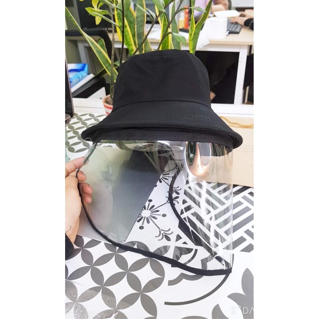 Nón mũ chống giọt bắn nước bọt - nón mũ có màn che kính full màu