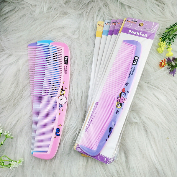 Lược chải tóc mẫu đẹp răng to và răng nhỏ họa tiết màu sắc cực đẹp màu ngẫu nhiên