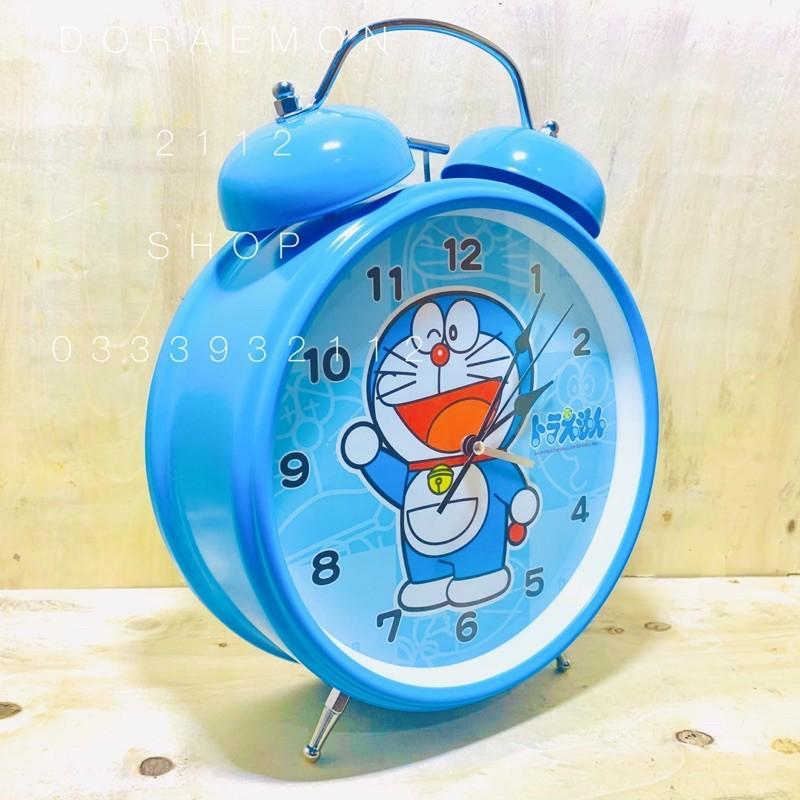 Đồng hồ báo thức để bàn DORAEMON size ĐẠI đường kính 22cm