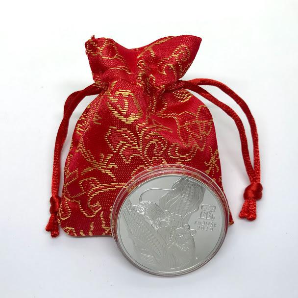 Đồng Xu Con Chuột Của Úc Mạ Kim Loại Bạc - Với kích thước đường kính 40mm thích hợp làm Quà tặng Tài Lộc cho dịp tết Canh Tý 2020 Hoặc trang trí văn phòng trang trí trong nhà - TMT Collection - MS268