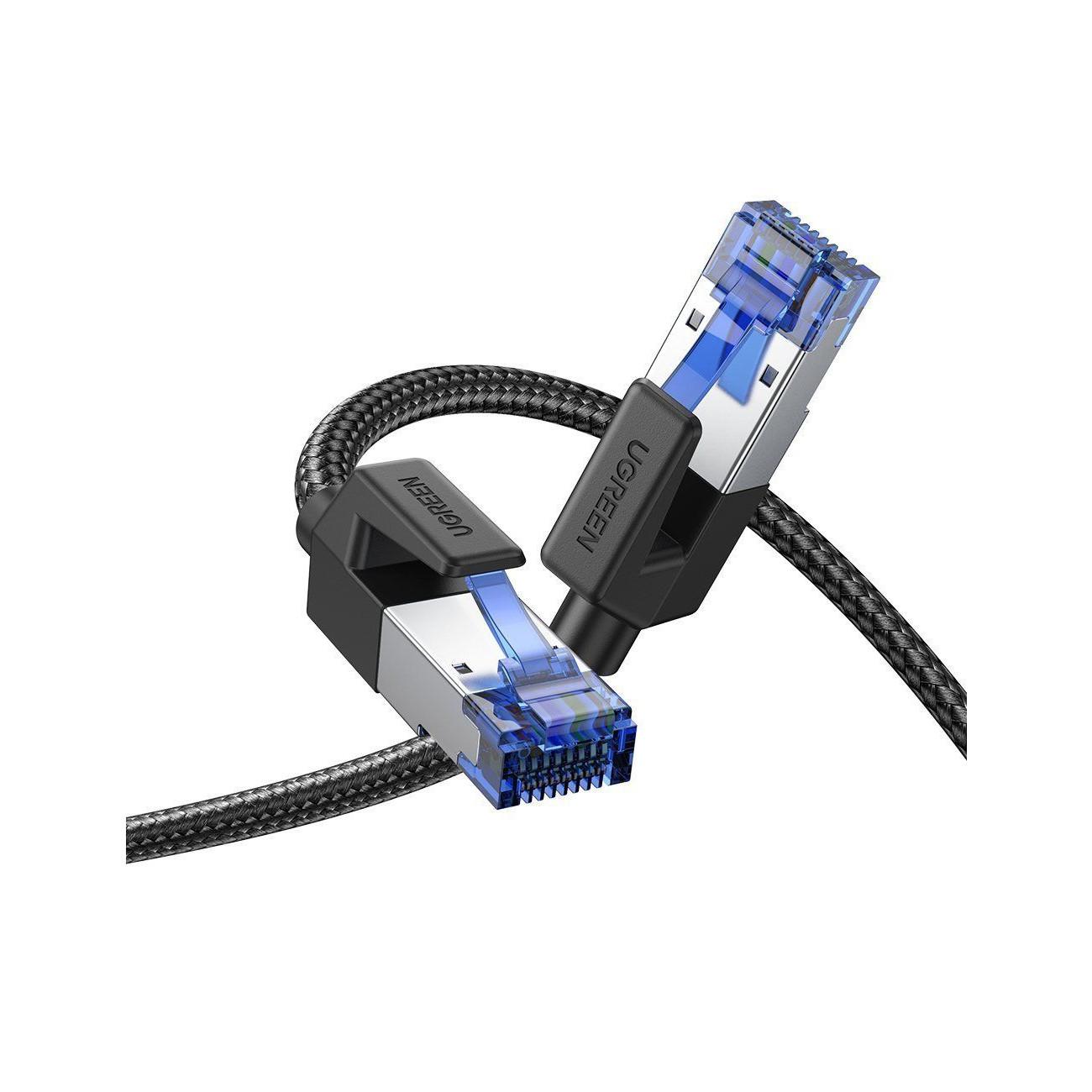 Cáp nối mạng Lan 1M CAT8 Shielded giữa các máy tính Ugreen 80429 NW153 Hàng Chính Hãng