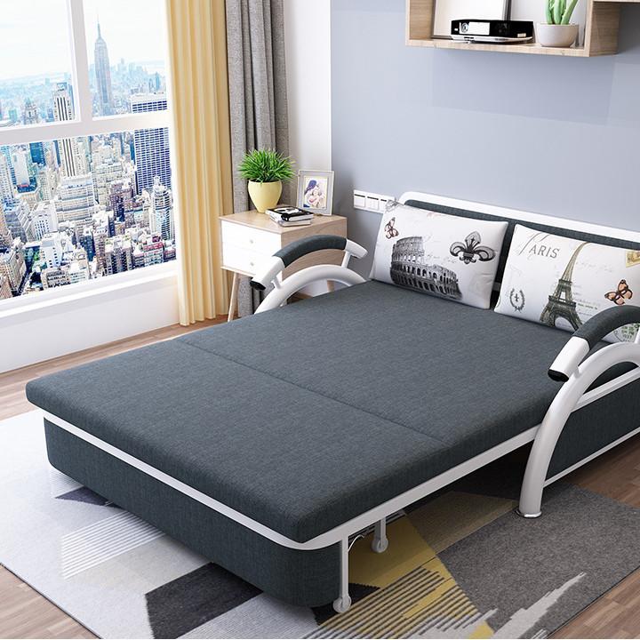 Ghế sofa - Giường sofa gấp thành ghế đa năng - Giường ngủ gập thành ghế - Tặng kèm 2 gối - Giao hàng màu ngẫu nhiên