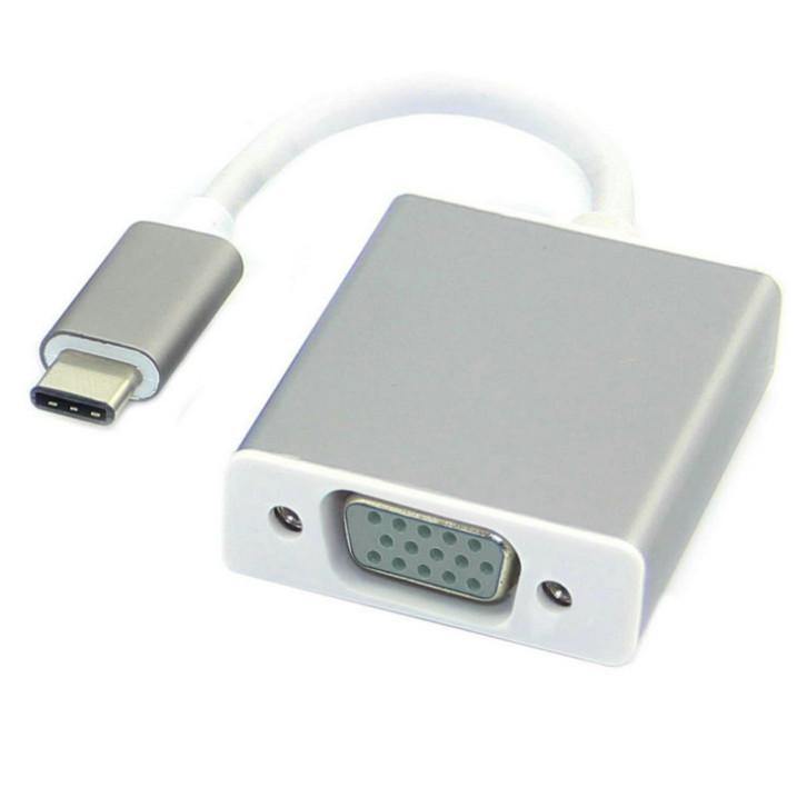 Cáp USB Type C to VGA cho Macbook chuẩn USB 3.1 Type-C AZONE