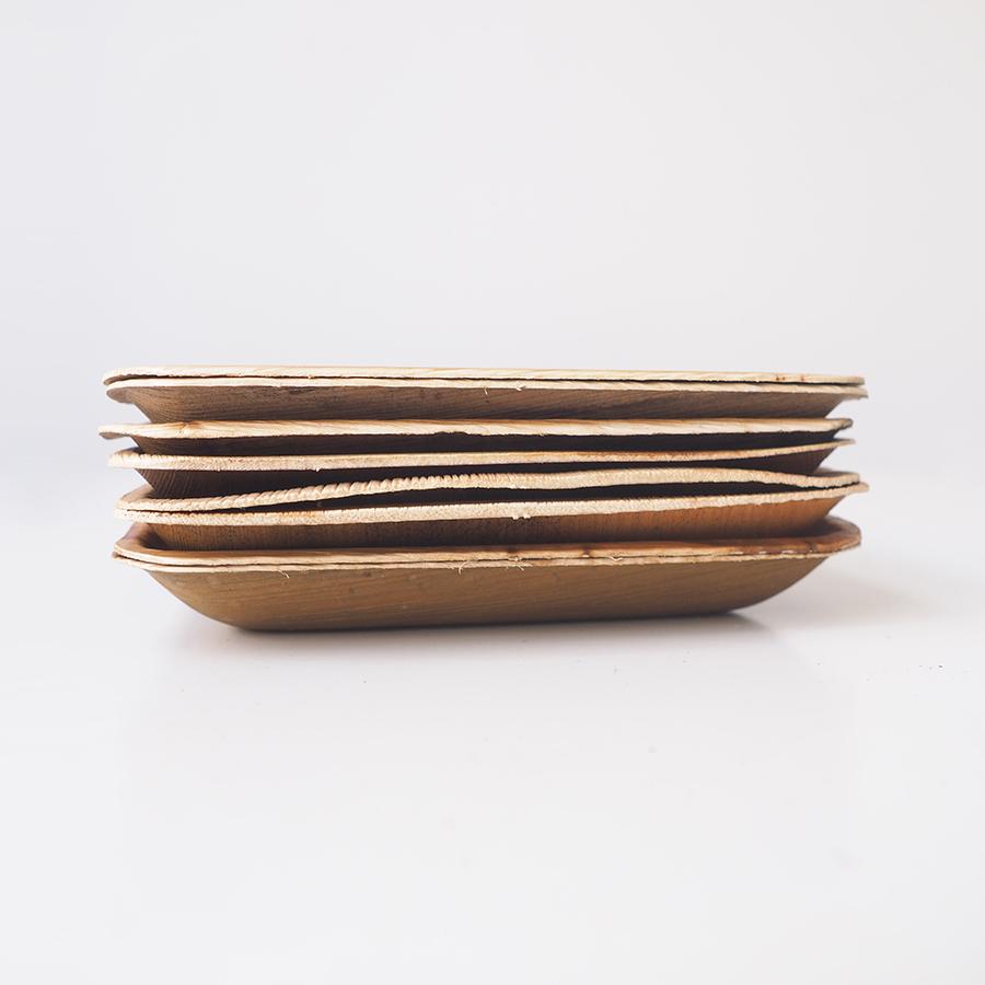 10 Đĩa  Mo Cau Vuông 17x17cm - Là Xanh