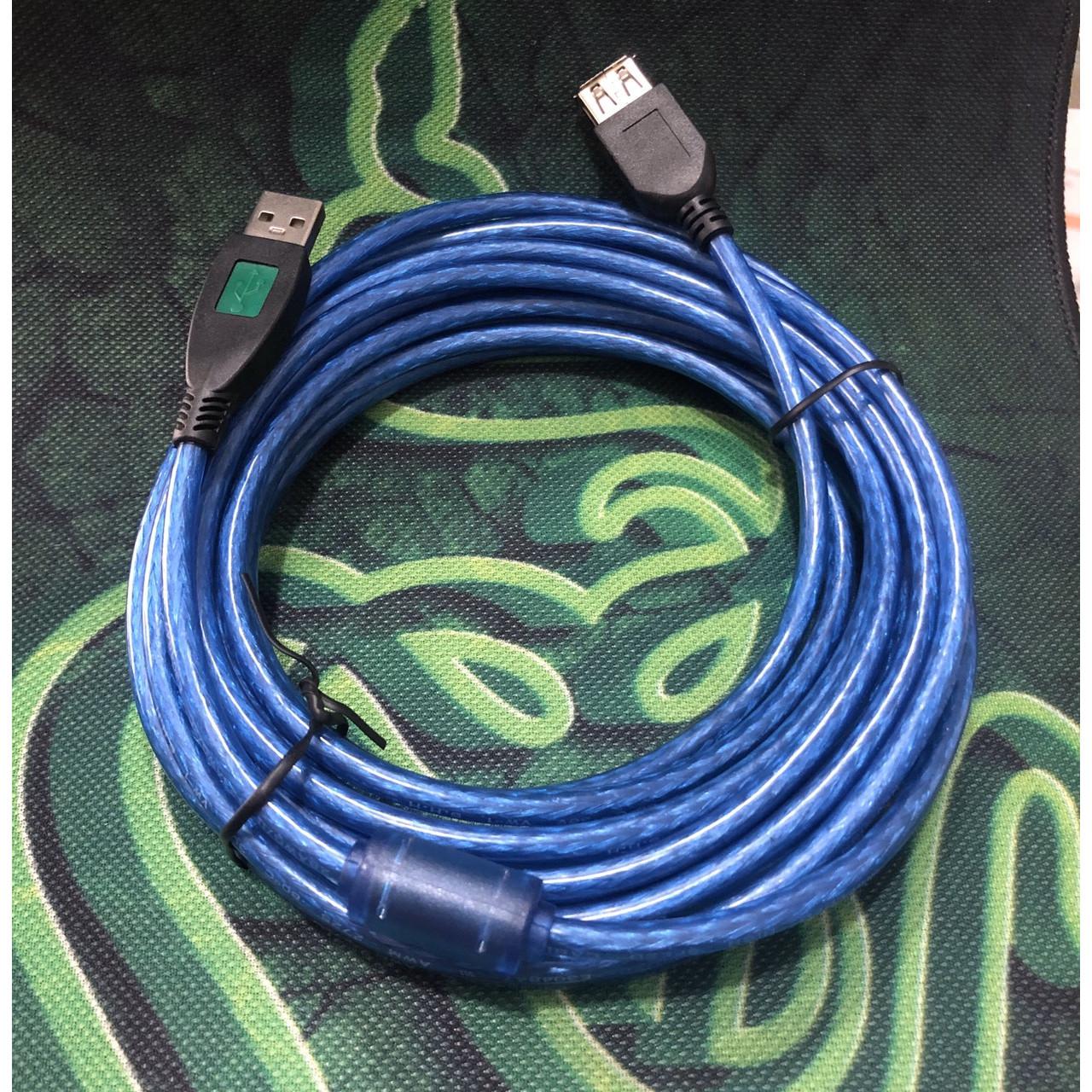 Cáp usb nối dài 5 mét màu xanh chống nhiễu