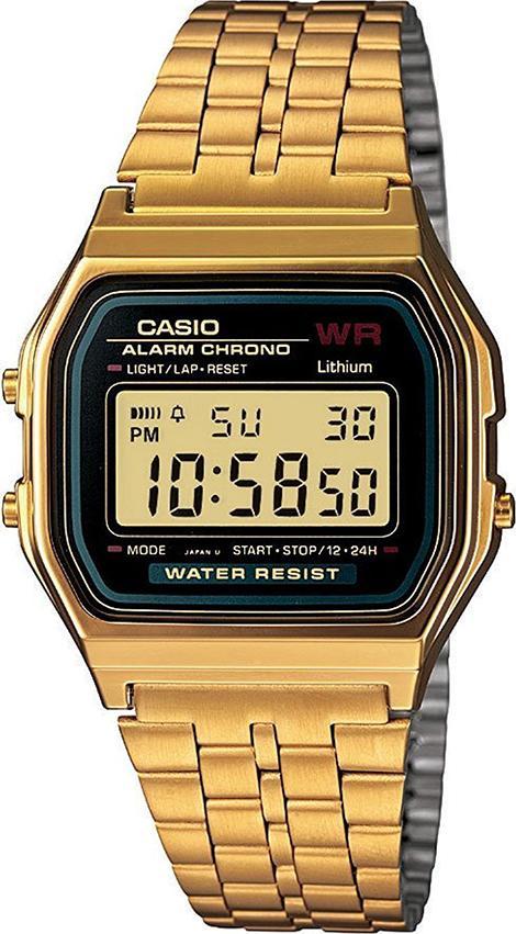Đồng Hồ Unisex Dây Thép Không Gỉ Casio A159WGEA-1DF (33mm) - Vàng