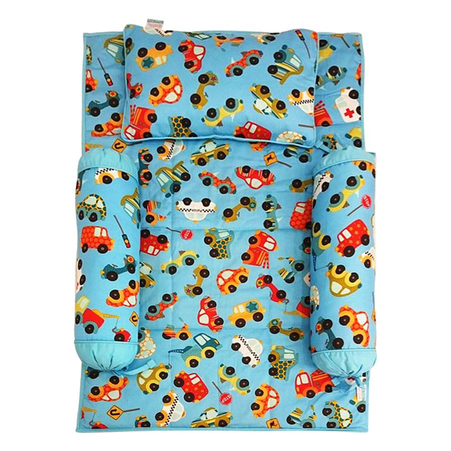 Bộ 4 Món Ga Gối Cho Bé Sleep Baby Colorful Cars - F122