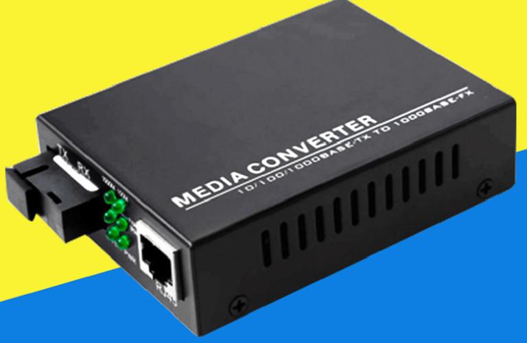 Thiết Bị Chuyển Đổi Quang Điện 1 Sợi Media Converter 1FO 1Gbps BLACK Singlemode Singlefiber