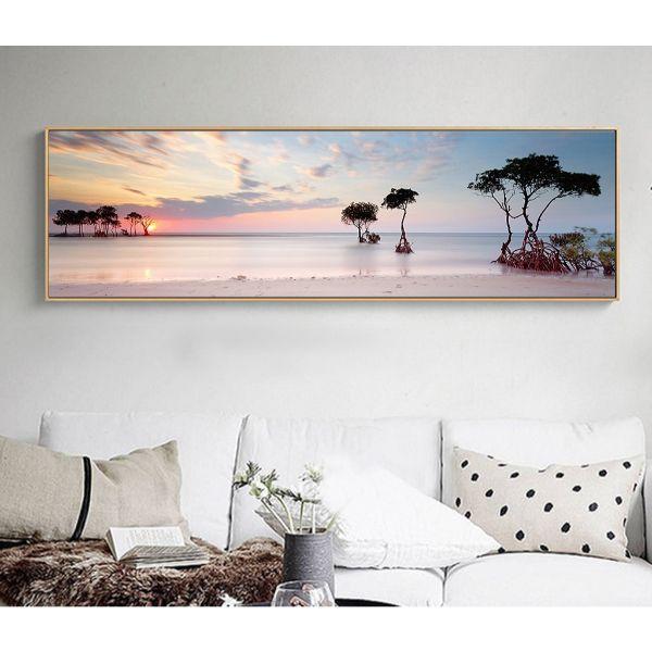 Tranh canvas phong cảnh hoàng hôn treo tường trang trí