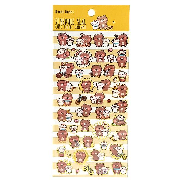 Sticker Moshi 009 - Mẫu 4 - Gấu + Chó