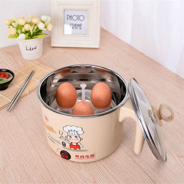 Ca Nấu Mỳ, Nấu Lẫu Mini Loại 1.6l ( kèm vỉ hấp trứng ) - Tặng khăn lau bếp tiện dụng