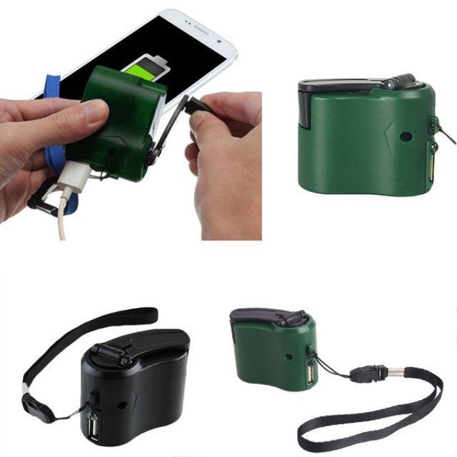 Sạc điện thoại pin dự phòng quay tay MH600