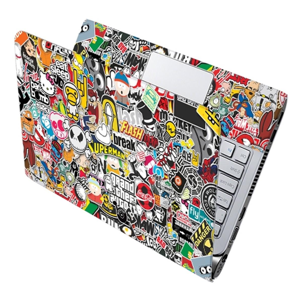 Mẫu Dán Decal Laptop Hoạt Hình Laptop LTHH-162 cỡ 13 inch