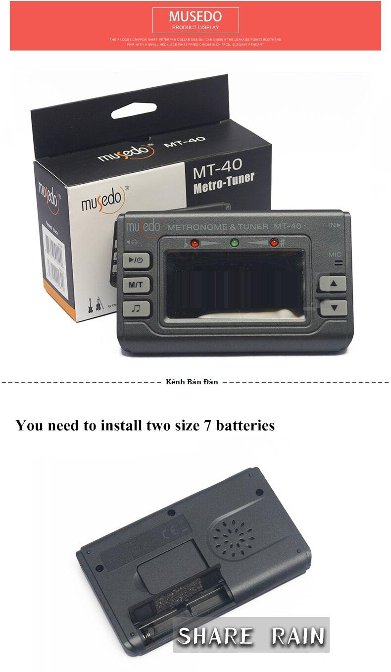 Máy lên dây đàn 3 chức năng-  Musedo KBD Metro Tuner MT-40