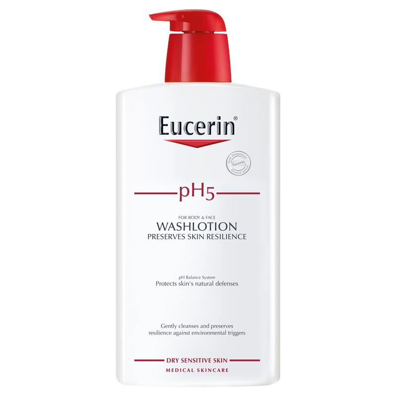 Sữa Tắm cho Da Nhạy Cảm Eucerin pH5 WashLotion  (1L) (Có Mùi)