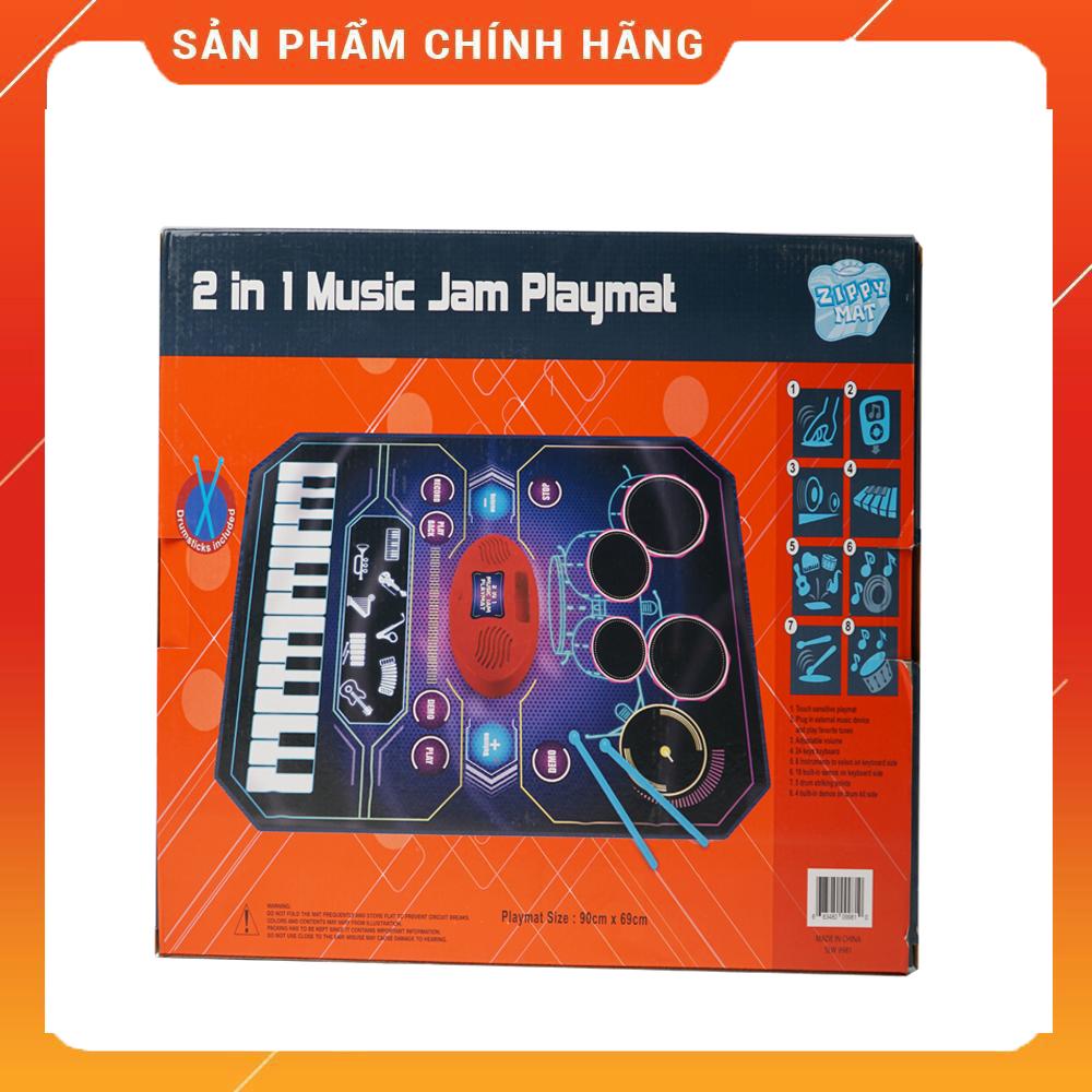 Thảm Chơi Nhạc Hình Nhạc Cụ Piano & Trống