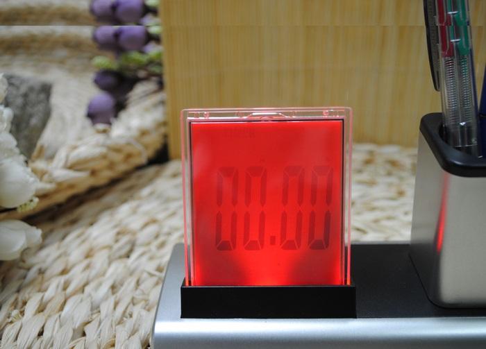 Đồng hồ kiêm hộp đựng bút để bàn V4 - 288A (Tặng kèm 01 quạt mini cắm cổng USB vỏ nhựa ngẫu nhiên)