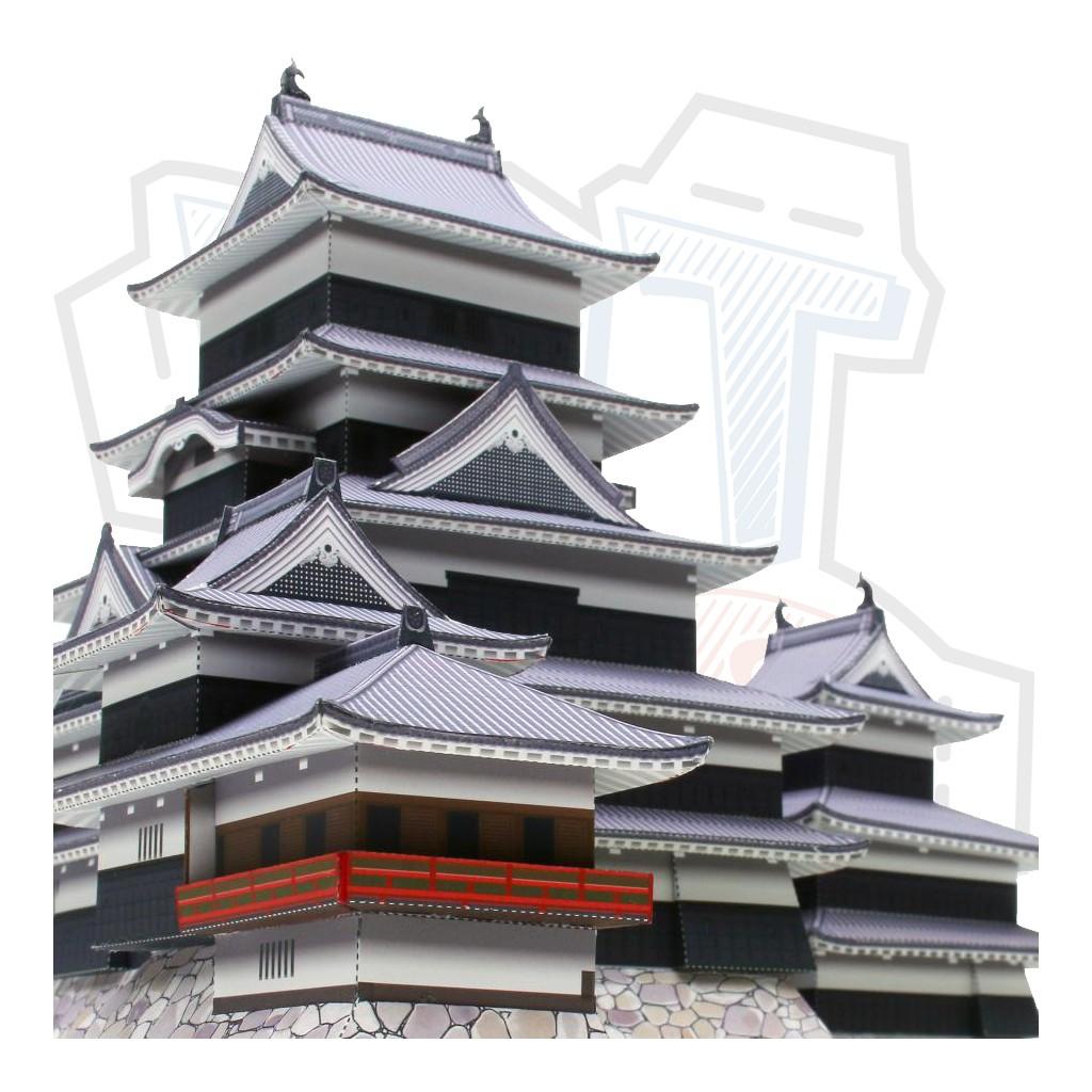 Mô hình giấy kiến trúc Nhật Bản tòa thành Matsumoto Castle