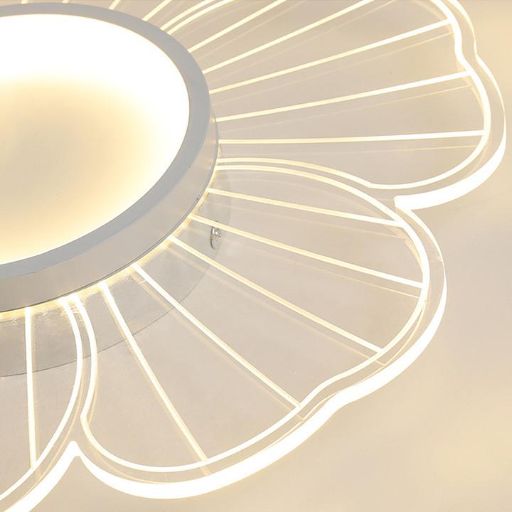 Đèn Trần Phòng Ngủ Vàng Trắng 34W Có Điều Khiển Thông Minh - Đèn Led Trần Nhà Hình Bông Hoa Decor Nhà Đẹp