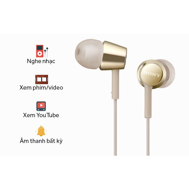 Tai Nghe Nhét Tai Sony MDREX155APLQE - Hàng chính hãng
