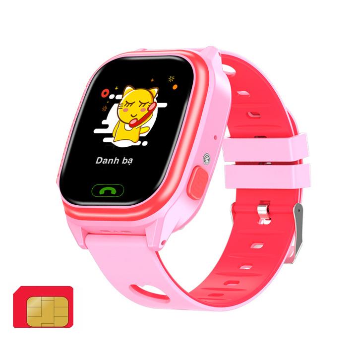Đồng hồ dùng sim Viettel cho trẻ em tặng sim 4G viettel một ngày có 4G DATA