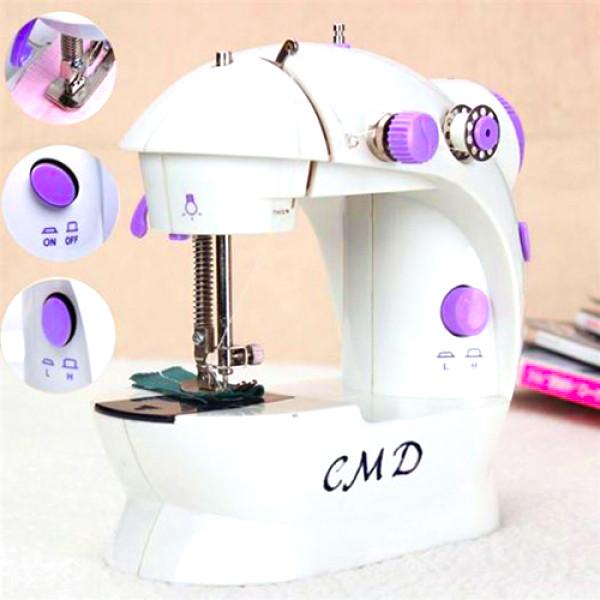 Máy may mini gia đình để bàn có đèn CM202