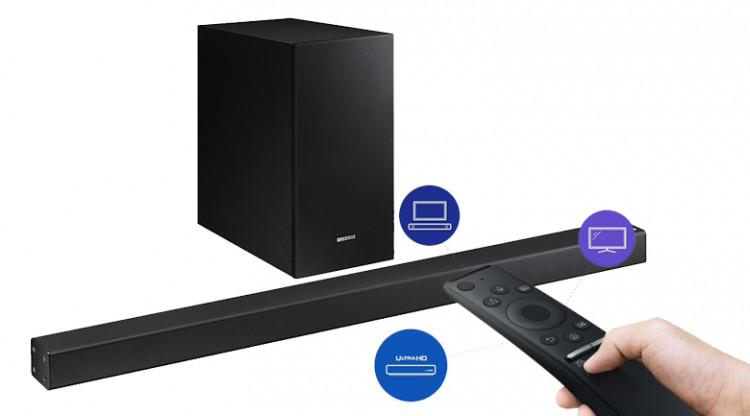 Loa thanh soundbar Samsung 2.1 HW-R450 200W - One Remote
