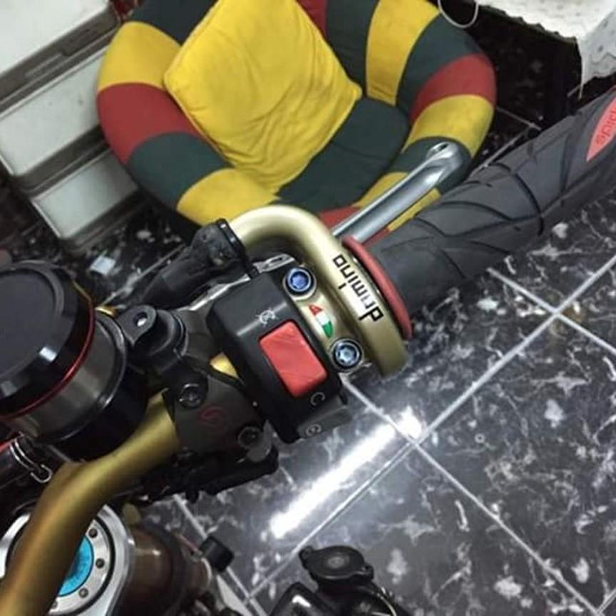 Bộ bao tay Spider Gel dành cho xe máy ( đỏ cam )