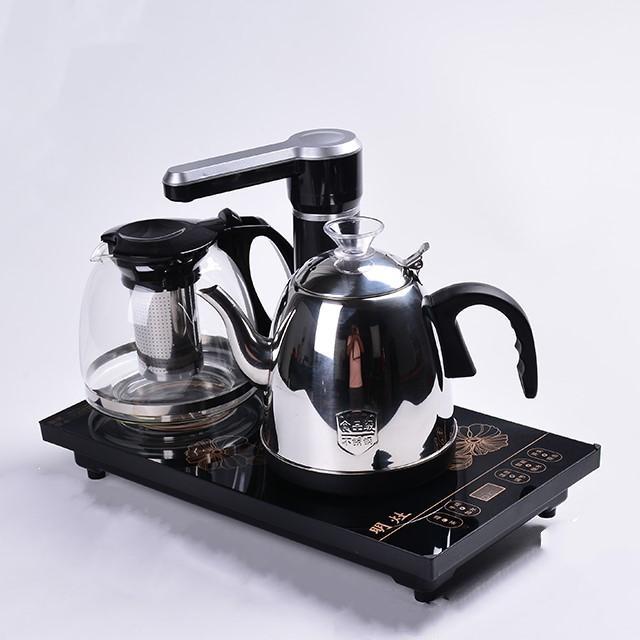 Bàn trà điện đa năng Cóc mang tài lộc - ấm chén đỏ