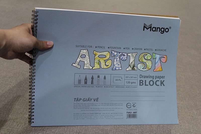 Tập Vẽ A3 Lò Xo Artist-TVA3-ART-30PS