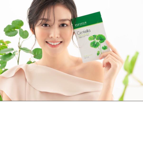 Mặt nạ trị mụn trắng da cao cấp chiết xuất RAU MÁ BEAUSKIN Hàn quốc ( 30ml)