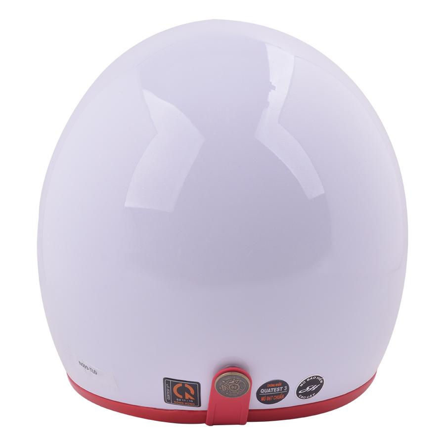 Mũ Bảo Hiểm 3/4 Đầu Napoli N099-TLĐ - Trắng Lót Đỏ